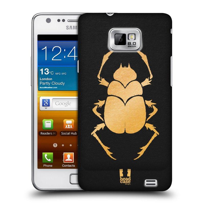 Plastové pouzdro na mobil Samsung Galaxy S II HEAD CASE EGYPT SCARABEUS (Kryt či obal na mobilní telefon Samsung Galaxy S II GT-i9100)