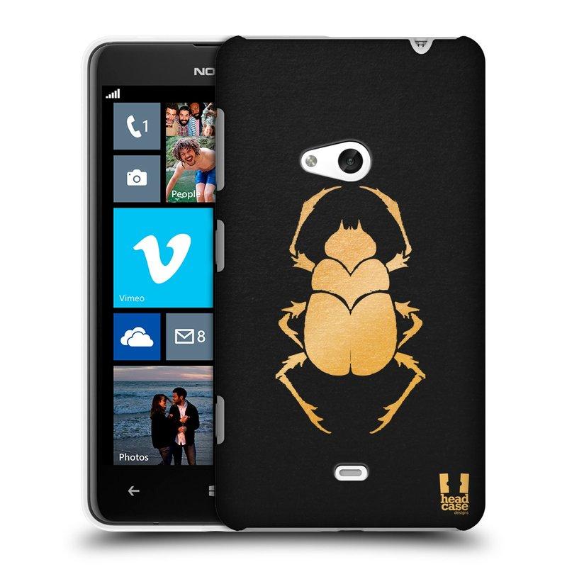 Plastové pouzdro na mobil Nokia Lumia 625 HEAD CASE EGYPT SCARABEUS (Kryt či obal na mobilní telefon Nokia Lumia 625)