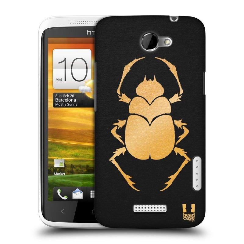 Plastové pouzdro na mobil HTC ONE X HEAD CASE EGYPT SCARABEUS (Kryt či obal na mobilní telefon HTC ONE X)
