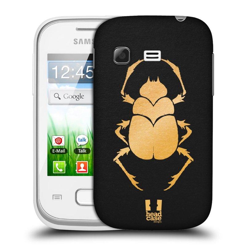 Plastové pouzdro na mobil Samsung Galaxy Pocket HEAD CASE EGYPT SCARABEUS (Kryt či obal na mobilní telefon Samsung Galaxy Pocket GT-S5300)