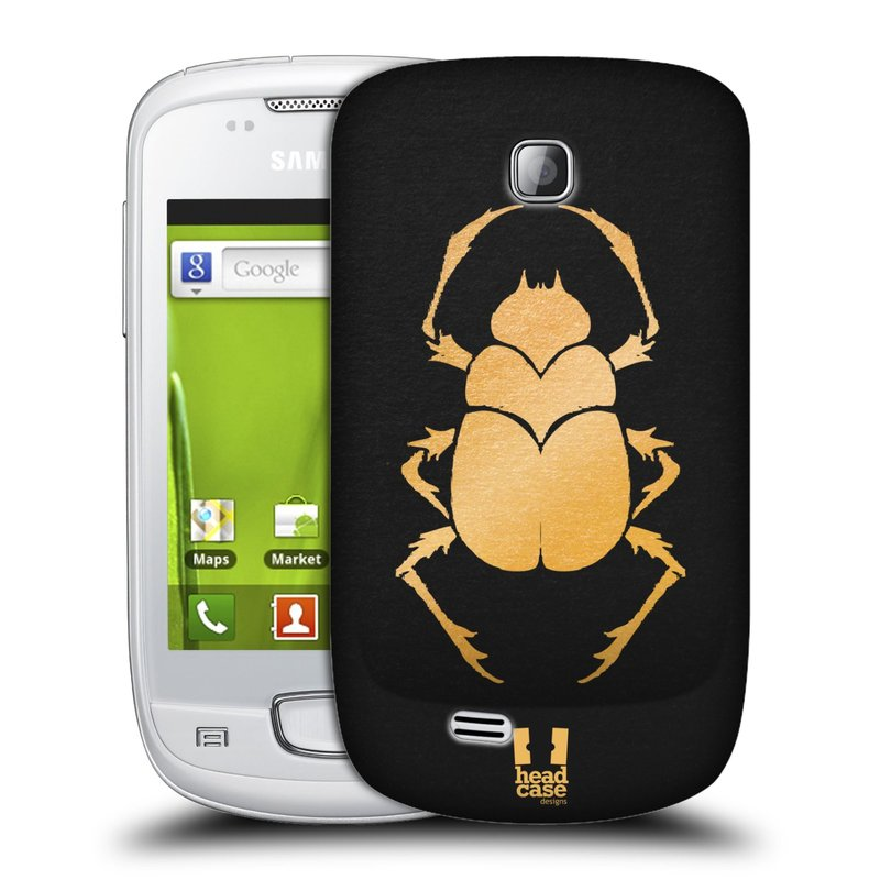 Plastové pouzdro na mobil Samsung Galaxy Mini HEAD CASE EGYPT SCARABEUS (Kryt či obal na mobilní telefon Samsung Galaxy Mini GT-S5570 / GT-S5570i)