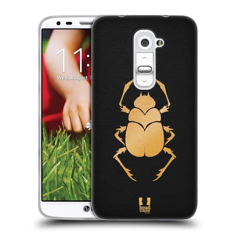 Silikonové pouzdro na mobil LG G2 HEAD CASE EGYPT SCARABEUS (Silikonový kryt či obal na mobilní telefon LG G2 D802)