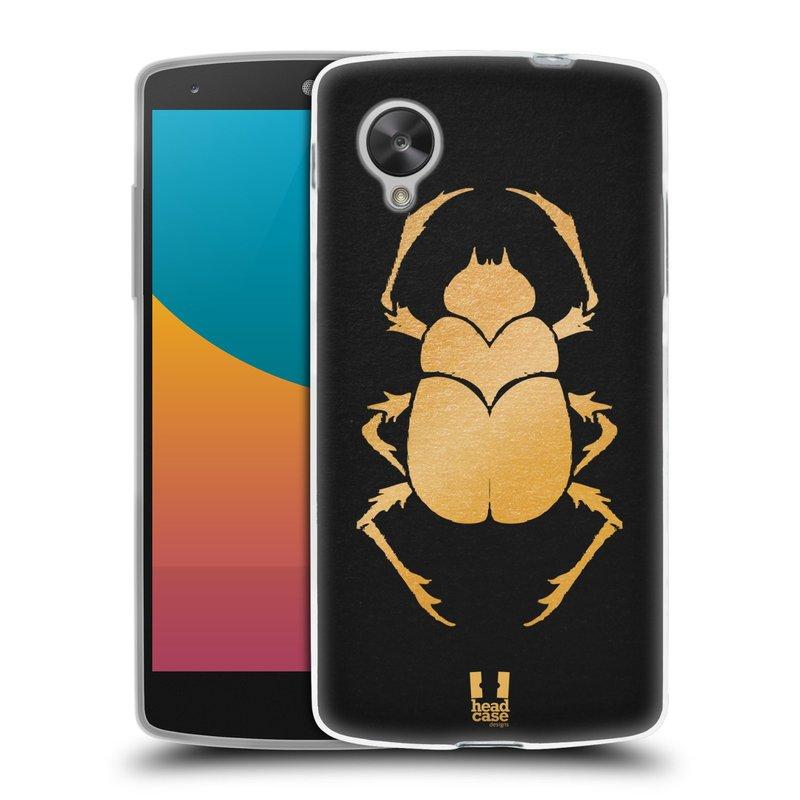 Silikonové pouzdro na mobil LG Nexus 5 HEAD CASE EGYPT SCARABEUS (Silikonový kryt či obal na mobilní telefon LG Google Nexus 5 D821)