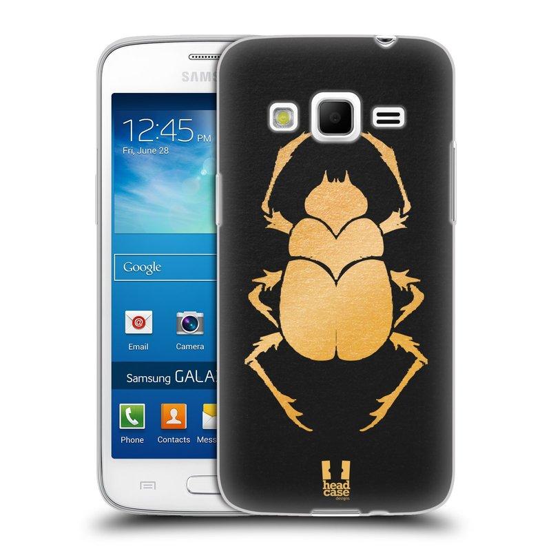 Silikonové pouzdro na mobil Samsung Galaxy Express 2 HEAD CASE EGYPT SCARABEUS (Silikonový kryt či obal na mobilní telefon Samsung Galaxy Express 2 SM-G3815)
