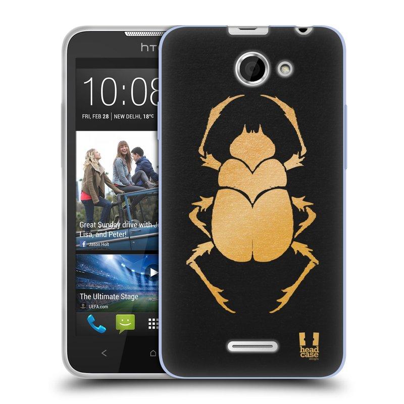 Silikonové pouzdro na mobil HTC Desire 516 HEAD CASE EGYPT SCARABEUS (Silikonový kryt či obal na mobilní telefon HTC Desire 516 Dual SIM)