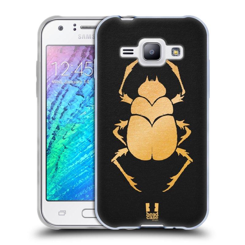 Silikonové pouzdro na mobil Samsung Galaxy J1 HEAD CASE EGYPT SCARABEUS (Silikonový kryt či obal na mobilní telefon Samsung Galaxy J1 a J1 Duos)