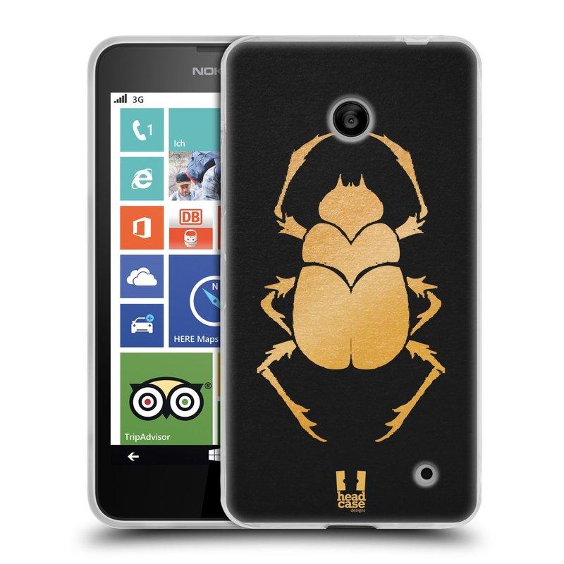 Silikonové pouzdro na mobil Nokia Lumia 630 HEAD CASE EGYPT SCARABEUS (Silikonový kryt či obal na mobilní telefon Nokia Lumia 630 a Nokia Lumia 630 Dual SIM)