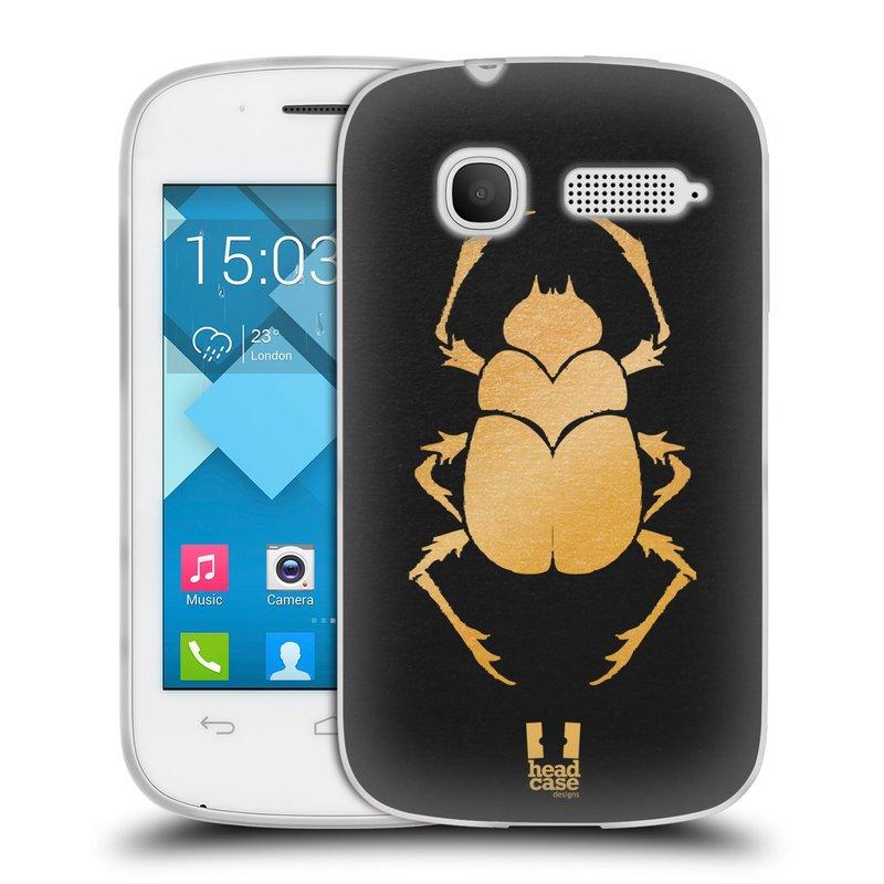 Silikonové pouzdro na mobil Alcatel One Touch Pop C1 HEAD CASE EGYPT SCARABEUS (Silikonový kryt či obal na mobilní telefon Alcatel OT-4015D POP C1)