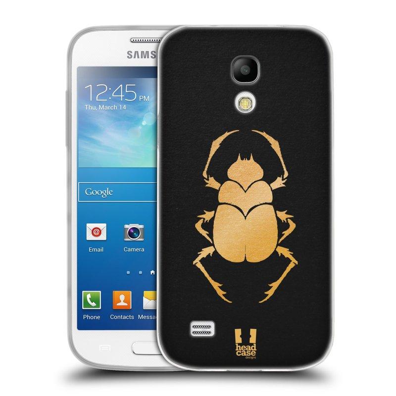 Silikonové pouzdro na mobil Samsung Galaxy S4 Mini HEAD CASE EGYPT SCARABEUS (Silikonový kryt či obal na mobilní telefon Samsung Galaxy S4 Mini GT-i9195 / i9190 (nepasuje na verzi Black Edition))
