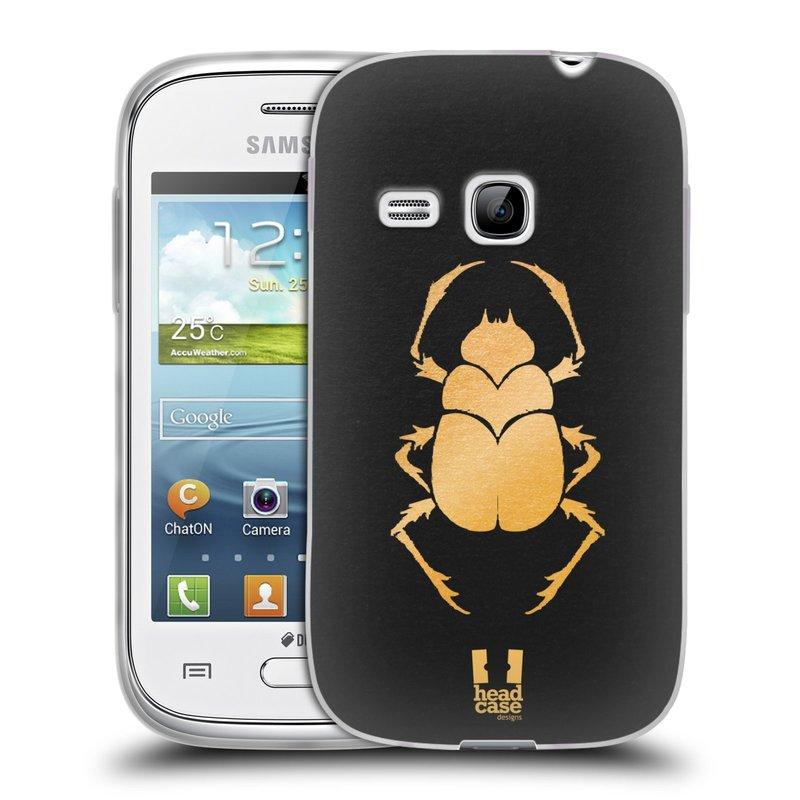 Silikonové pouzdro na mobil Samsung Galaxy Young HEAD CASE EGYPT SCARABEUS (Silikonový kryt či obal na mobilní telefon Samsung Galaxy Young GT-S6310)