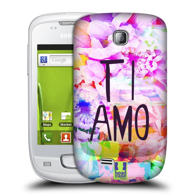 Plastové pouzdro na mobil Samsung Galaxy Mini HEAD CASE Květy Ti Amo (Plastový kryt či obal na mobilní telefon Samsung Galaxy Mini GT-S5570 / GT-S5570i)