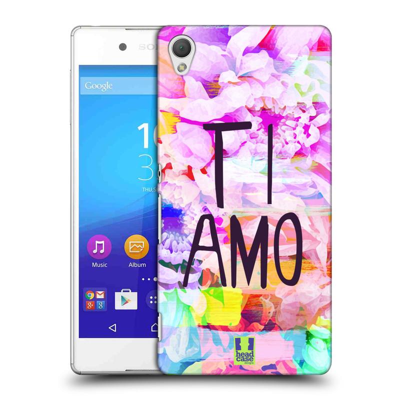 Plastové pouzdro na mobil Sony Xperia Z3+ (Plus) HEAD CASE Květy Ti Amo (Plastový kryt či obal na mobilní telefon Sony Xperia Z3+ a Sony Xperia Z4 )