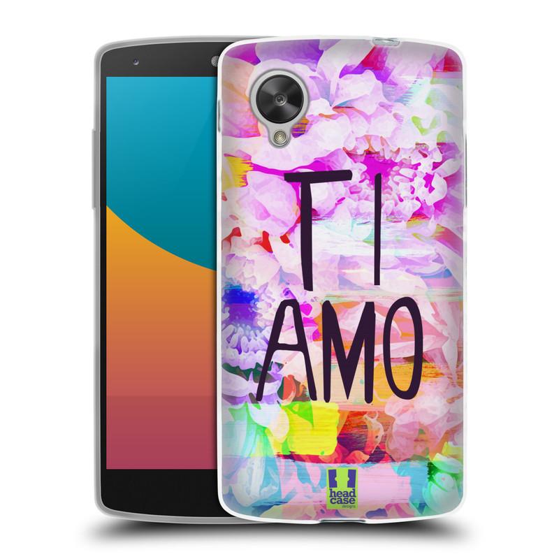 Silikonové pouzdro na mobil LG Nexus 5 HEAD CASE Květy Ti Amo (Silikonový kryt či obal na mobilní telefon LG Google Nexus 5 D821)