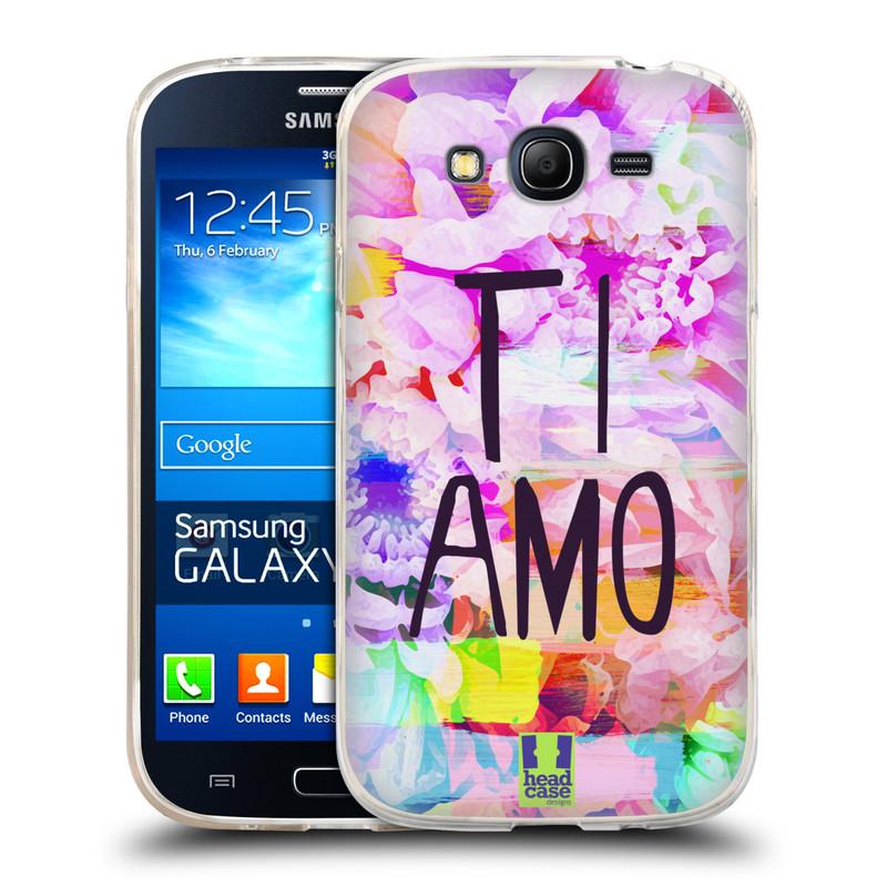 Silikonové pouzdro na mobil Samsung Galaxy Grand Neo HEAD CASE Květy Ti Amo (Silikonový kryt či obal na mobilní telefon Samsung Galaxy Grand Neo GT-I9060)