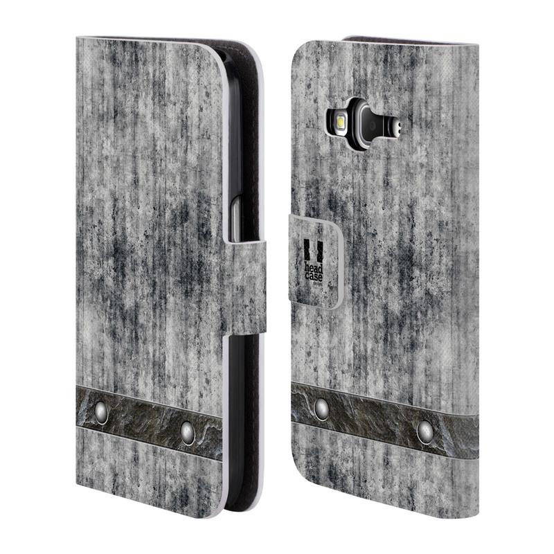 Flipové pouzdro na mobil Samsung Galaxy Core Prime LTE HEAD CASE Industrial Concrete (Flipový vyklápěcí kryt či obal z umělé kůže na mobilní telefon Samsung Galaxy Core Prime LTE SM-G360)