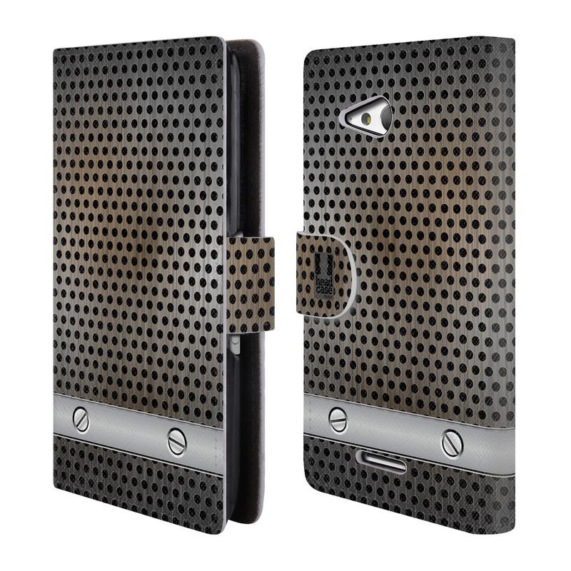 Flipové pouzdro na mobil Sony Xperia E4g HEAD CASE INDUSTRIAL SHEET (Flipový vyklápěcí kryt či obal z umělé kůže na mobilní telefon Sony Xperia E4G E2003)