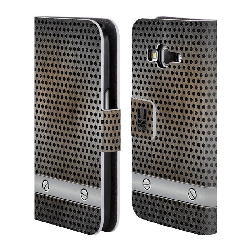 Flipové pouzdro na mobil Samsung Galaxy Core Prime LTE HEAD CASE INDUSTRIAL SHEET (Flipový vyklápěcí kryt či obal z umělé kůže na mobilní telefon Samsung Galaxy Core Prime LTE SM-G360)
