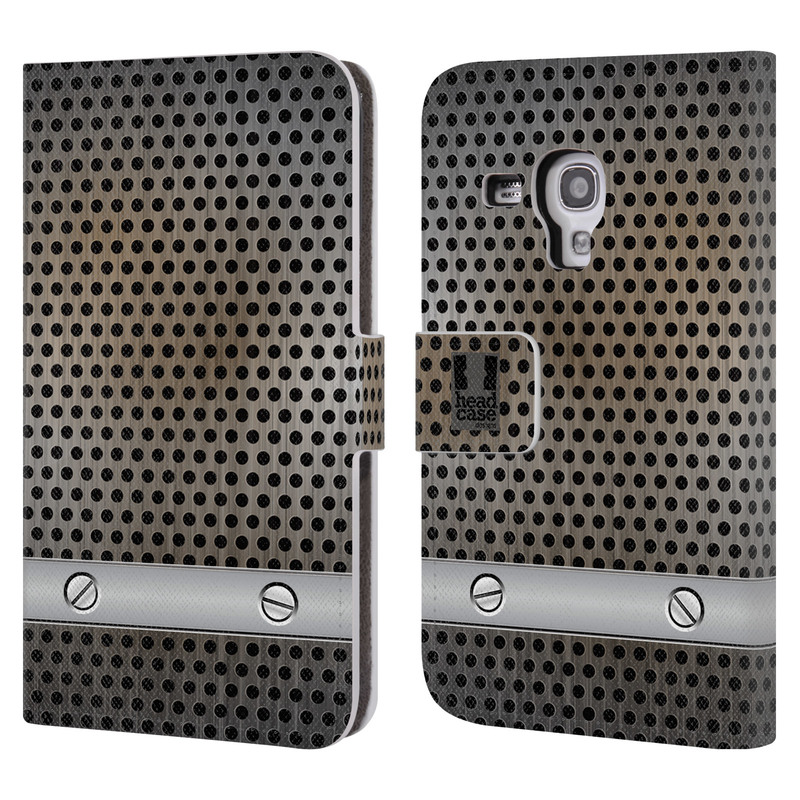 Flipové pouzdro na mobil Samsung Galaxy S III Mini HEAD CASE INDUSTRIAL SHEET (Flipový vyklápěcí kryt či obal z umělé kůže na mobilní telefon Samsung Galaxy S III Mini GT-I8190)