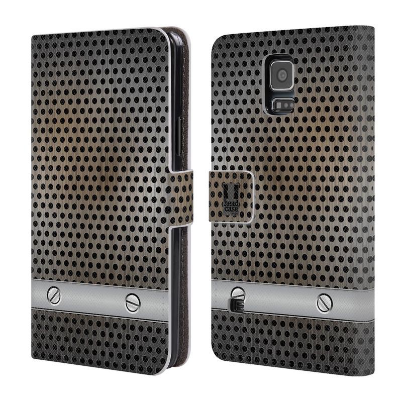 Flipové pouzdro na mobil Samsung Galaxy S5 HEAD CASE INDUSTRIAL SHEET (Flipový vyklápěcí kryt či obal z umělé kůže na mobilní telefon Samsung Galaxy S5 SM-G900)