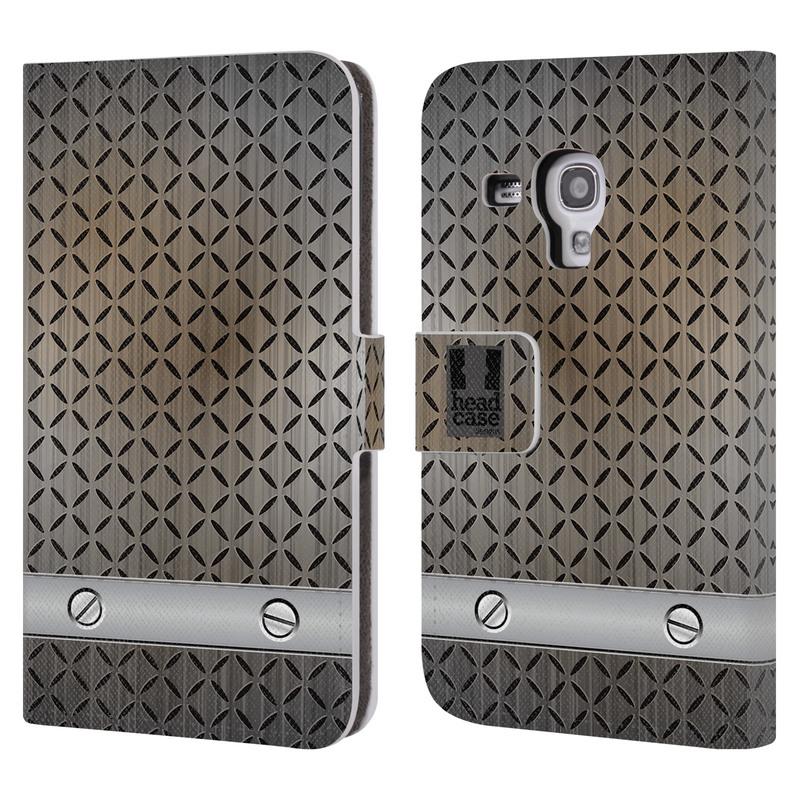 Flipové pouzdro na mobil Samsung Galaxy S III Mini HEAD CASE INDUSTRIAL STEEL (Flipový vyklápěcí kryt či obal z umělé kůže na mobilní telefon Samsung Galaxy S III Mini GT-I8190)