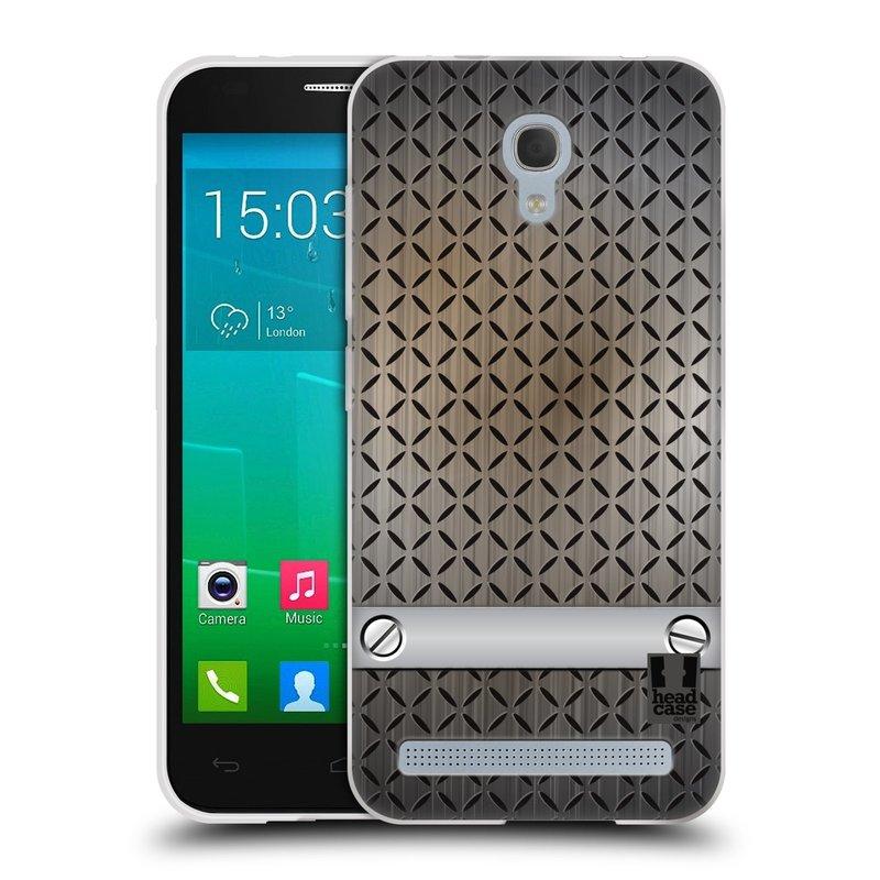 Silikonové pouzdro na mobil Alcatel One Touch Idol 2 Mini S 6036Y HEAD CASE INDUSTRIAL STEEL (Silikonový kryt či obal na mobilní telefon Alcatel Idol 2 Mini S OT-6036Y)