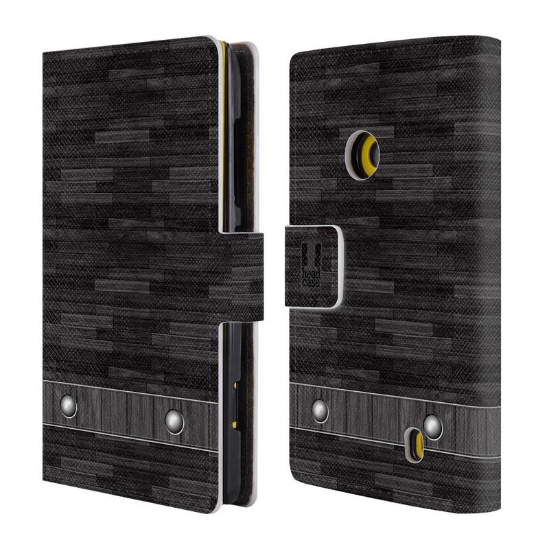 Flipové pouzdro na mobil Nokia Lumia 520 HEAD CASE Industrial Wood (Flipový vyklápěcí kryt či obal z umělé kůže na mobilní telefon Nokia Lumia 520)