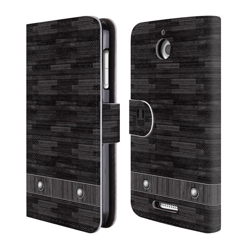 Flipové pouzdro na mobil HTC Desire 510 HEAD CASE Industrial Wood (Flipový vyklápěcí kryt či obal z umělé kůže na mobilní telefon HTC Desire 510)