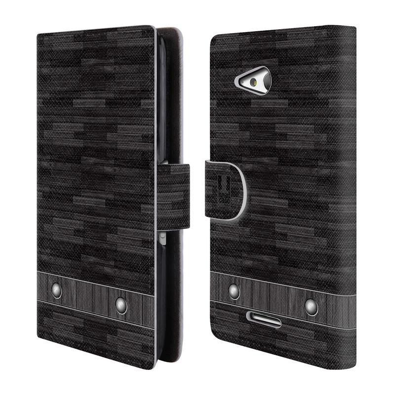 Flipové pouzdro na mobil Sony Xperia E4g HEAD CASE Industrial Wood (Flipový vyklápěcí kryt či obal z umělé kůže na mobilní telefon Sony Xperia E4G E2003)