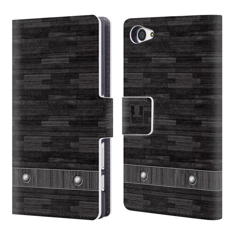 Flipové pouzdro na mobil Sony Xperia Z5 Compact HEAD CASE Industrial Wood (Flipový vyklápěcí kryt či obal z umělé kůže na mobilní telefon Sony Xperia Z5 Compact E5823)