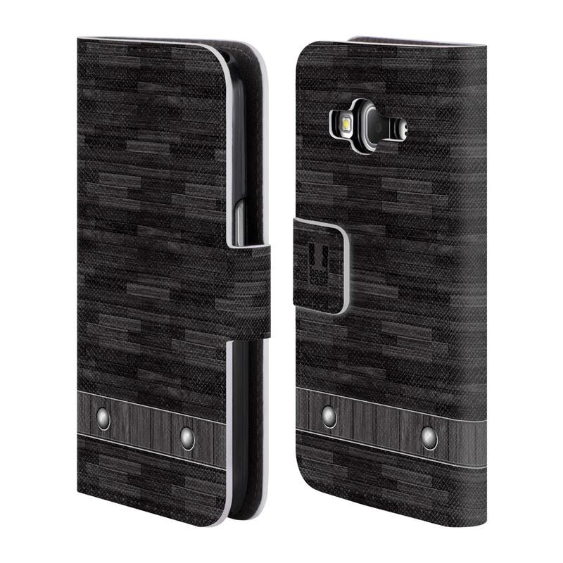 Flipové pouzdro na mobil Samsung Galaxy Core Prime LTE HEAD CASE Industrial Wood (Flipový vyklápěcí kryt či obal z umělé kůže na mobilní telefon Samsung Galaxy Core Prime LTE SM-G360)