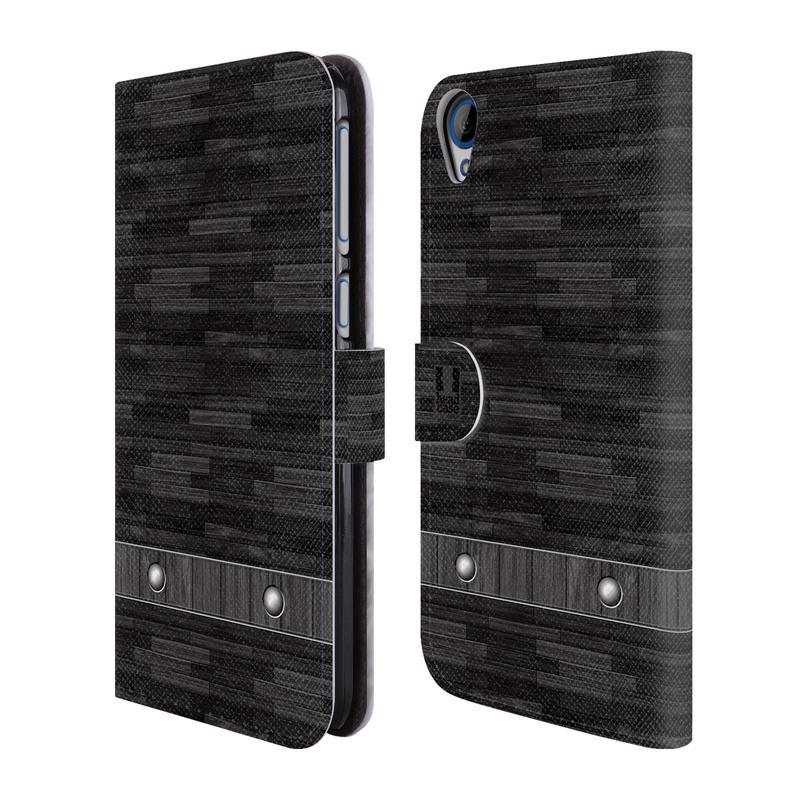 Flipové pouzdro na mobil HTC Desire 820 HEAD CASE Industrial Wood (Flipový vyklápěcí kryt či obal z umělé kůže na mobilní telefon HTC Desire 820)