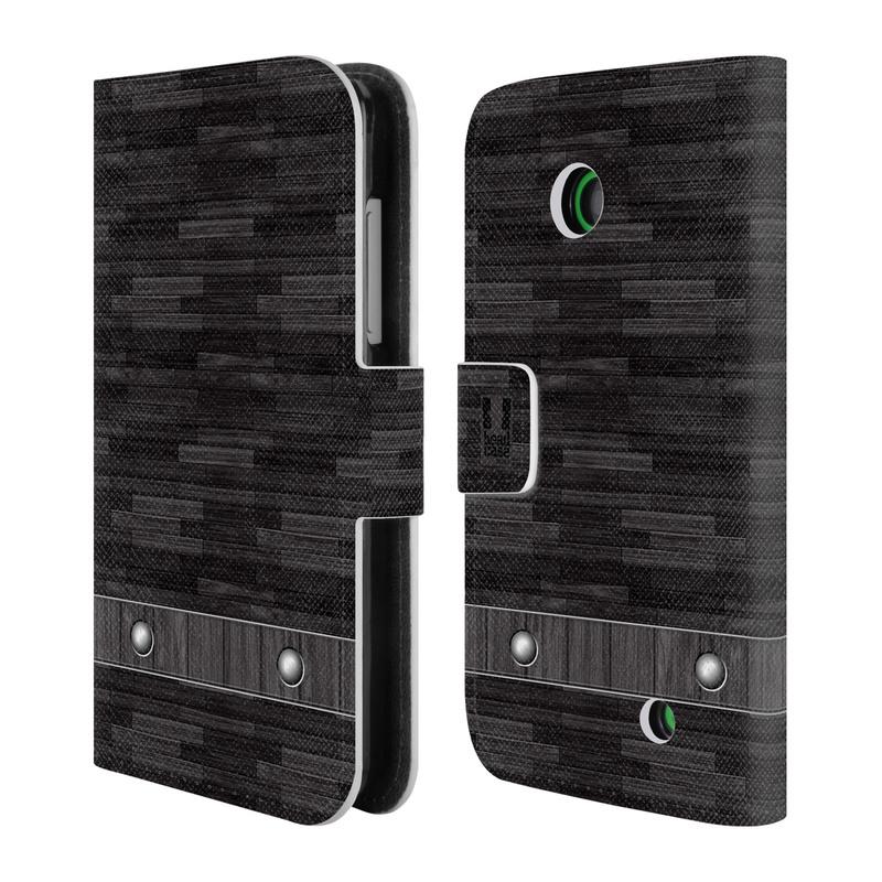 Flipové pouzdro na mobil Nokia Lumia 630 HEAD CASE Industrial Wood (Flipový vyklápěcí kryt či obal z umělé kůže na mobilní telefon Nokia Lumia 630)