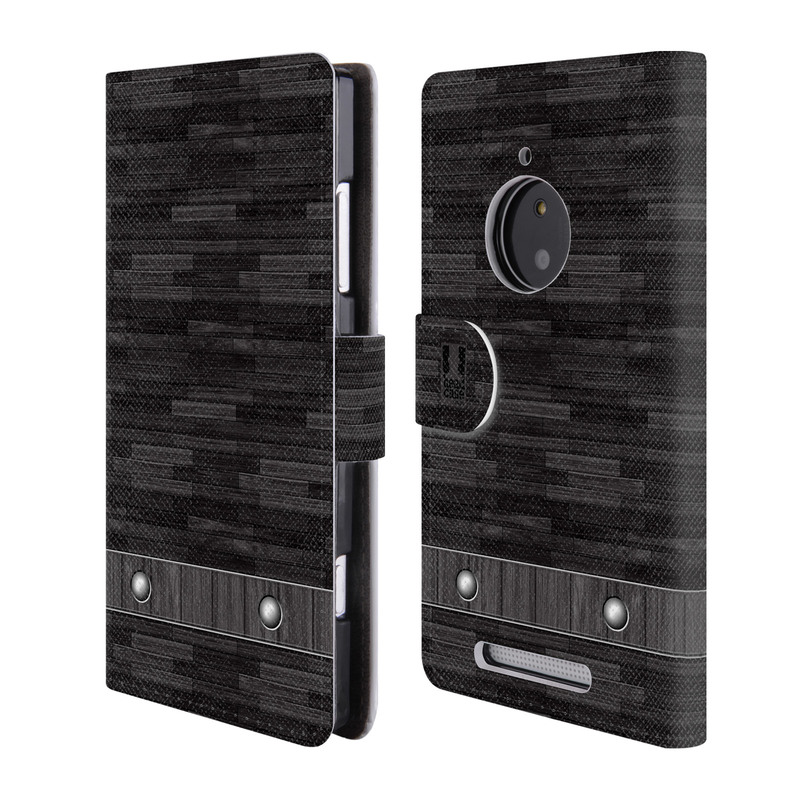 Flipové pouzdro na mobil Nokia Lumia 830 HEAD CASE Industrial Wood (Flipový vyklápěcí kryt či obal z umělé kůže na mobilní telefon Nokia Lumia 830)