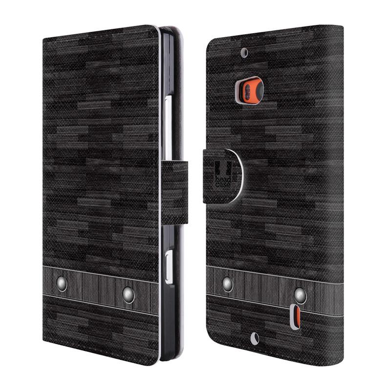 Flipové pouzdro na mobil Nokia Lumia 930 HEAD CASE Industrial Wood (Flipový vyklápěcí kryt či obal z umělé kůže na mobilní telefon Nokia Lumia 930)