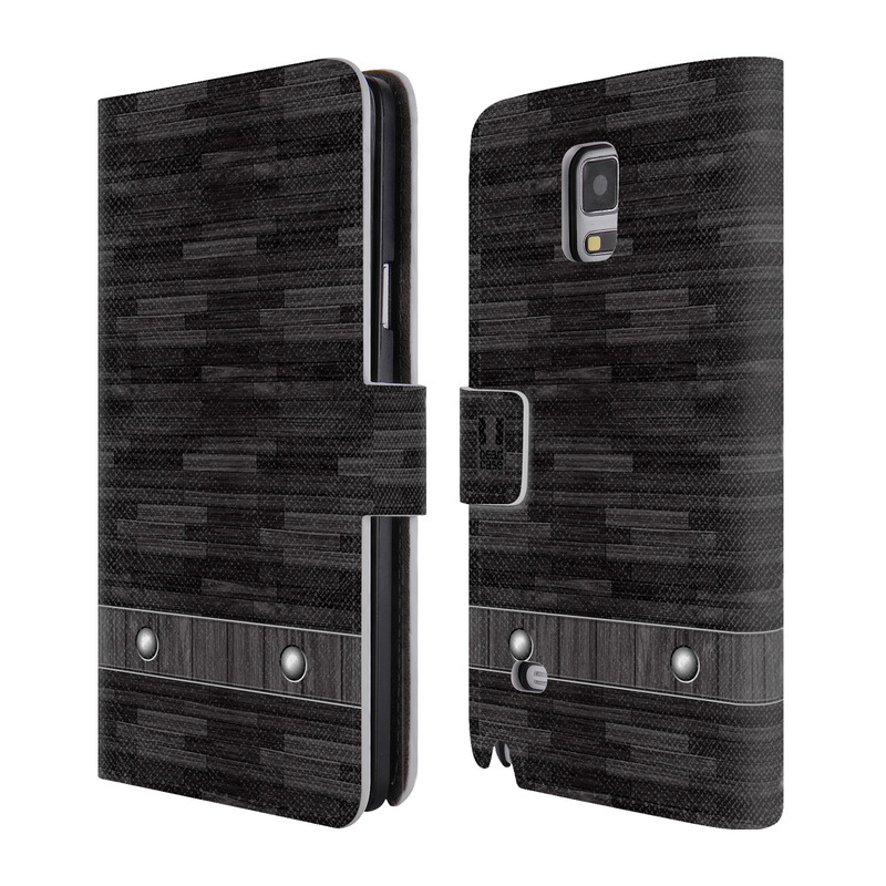 Flipové pouzdro na mobil Samsung Galaxy Note 4 HEAD CASE Industrial Wood (Flipový vyklápěcí kryt či obal z umělé kůže na mobilní telefon Samsung Galaxy Note 4 SM-N910)
