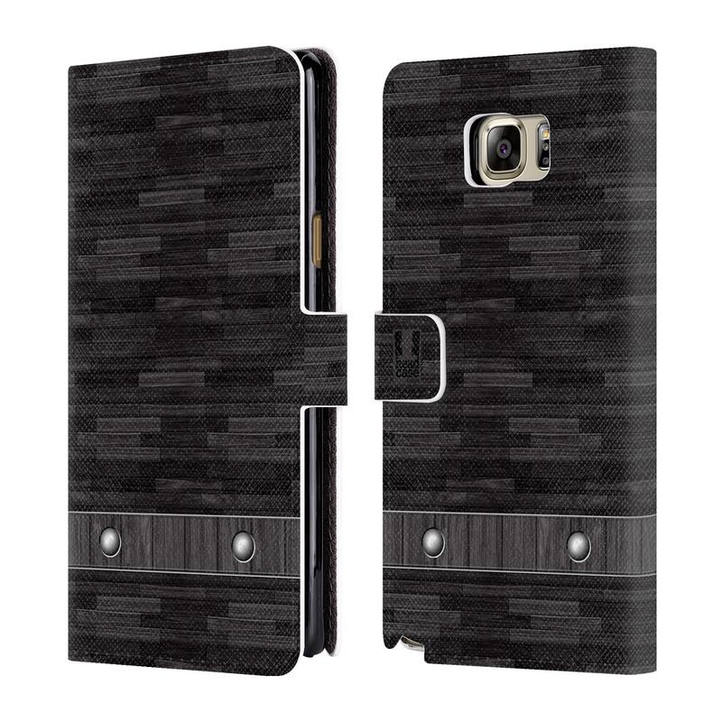 Flipové pouzdro na mobil Samsung Galaxy Note 5 HEAD CASE Industrial Wood (Flipový vyklápěcí kryt či obal z umělé kůže na mobilní telefon Samsung Galaxy Note 5 SM-N920)