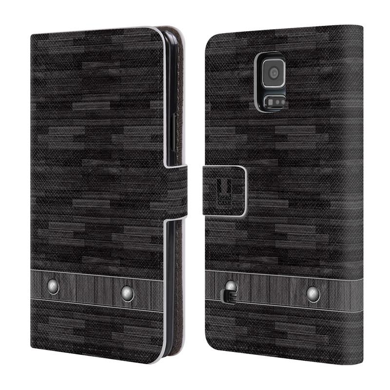 Flipové pouzdro na mobil Samsung Galaxy S5 HEAD CASE Industrial Wood (Flipový vyklápěcí kryt či obal z umělé kůže na mobilní telefon Samsung Galaxy S5 SM-G900)