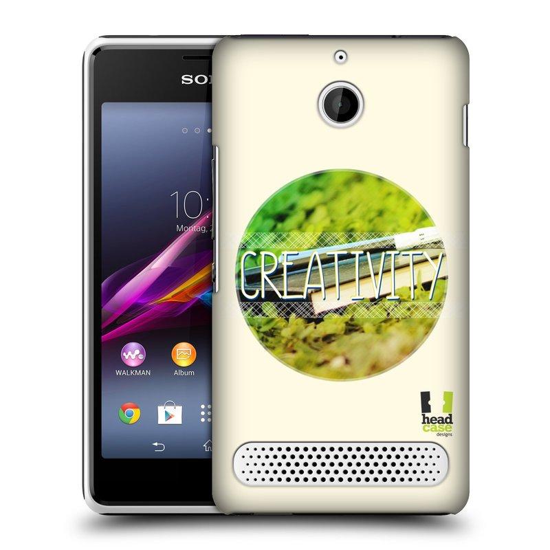 Plastové pouzdro na mobil Sony Xperia E1 D2005 HEAD CASE INSPIRACE V KRUHU KREATIVITA (Kryt či obal na mobilní telefon Sony Xperia E1 a E1 Dual )