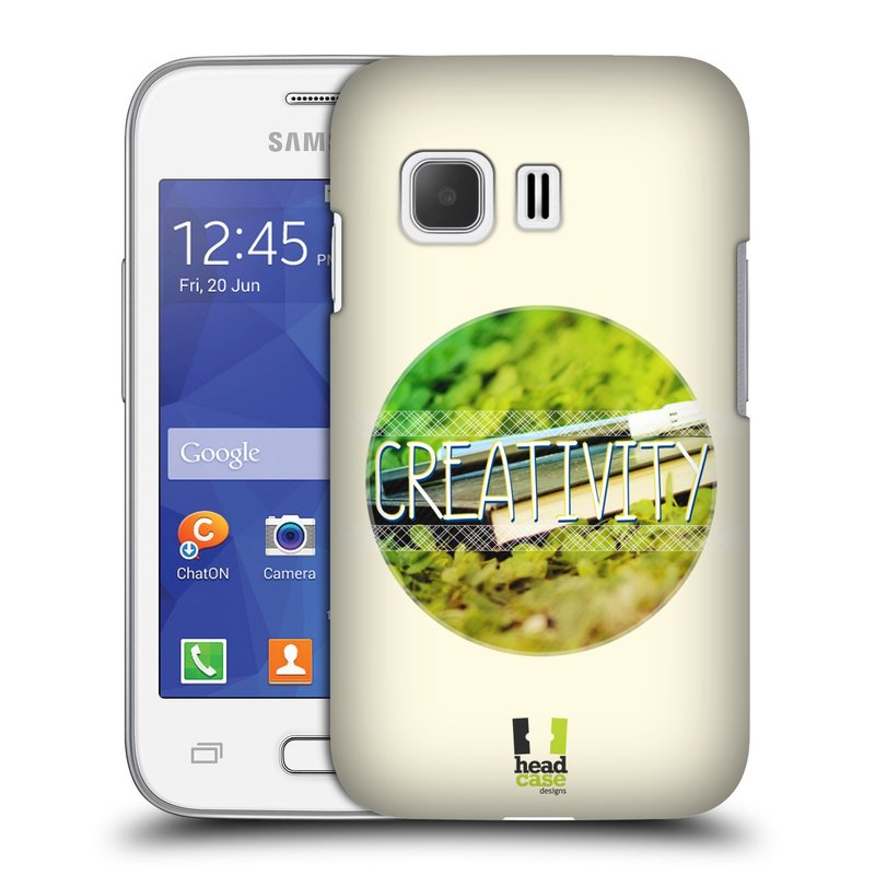 Plastové pouzdro na mobil Samsung Galaxy Young 2 HEAD CASE INSPIRACE V KRUHU KREATIVITA (Kryt či obal na mobilní telefon Samsung Galaxy Young 2 SM-G130)