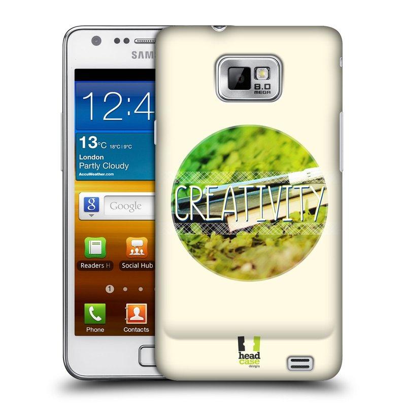 Plastové pouzdro na mobil Samsung Galaxy S II HEAD CASE INSPIRACE V KRUHU KREATIVITA (Kryt či obal na mobilní telefon Samsung Galaxy S II GT-i9100)