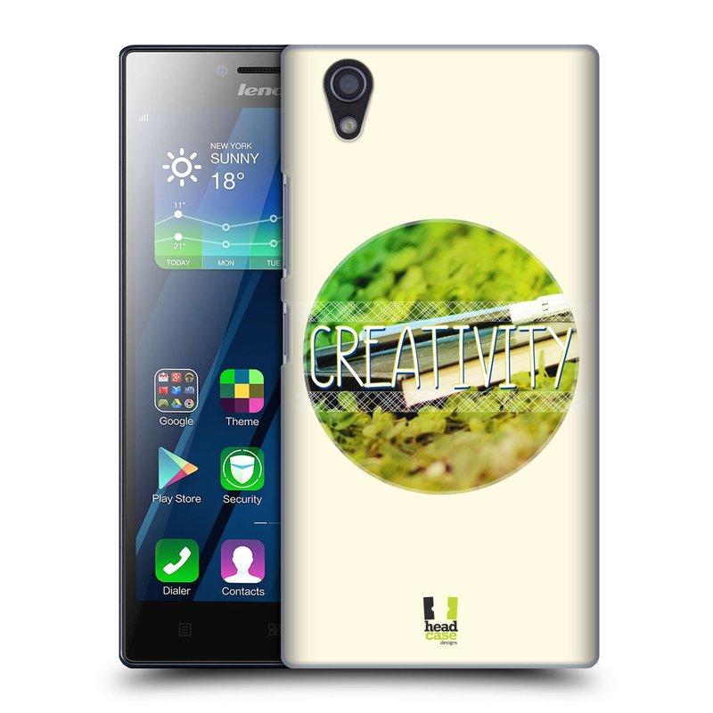 Plastové pouzdro na mobil Lenovo P70 HEAD CASE INSPIRACE V KRUHU KREATIVITA (Kryt či obal na mobilní telefon Lenovo P70)