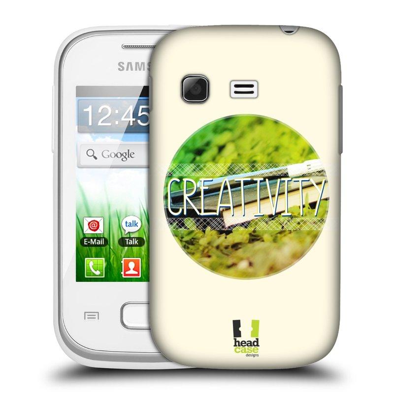 Plastové pouzdro na mobil Samsung Galaxy Pocket HEAD CASE INSPIRACE V KRUHU KREATIVITA (Kryt či obal na mobilní telefon Samsung Galaxy Pocket GT-S5300)
