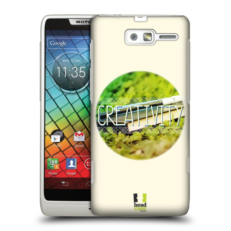 Plastové pouzdro na mobil Motorola Razr i XT890 HEAD CASE INSPIRACE V KRUHU KREATIVITA (Kryt či obal na mobilní telefon Motorola Razr i XT890)