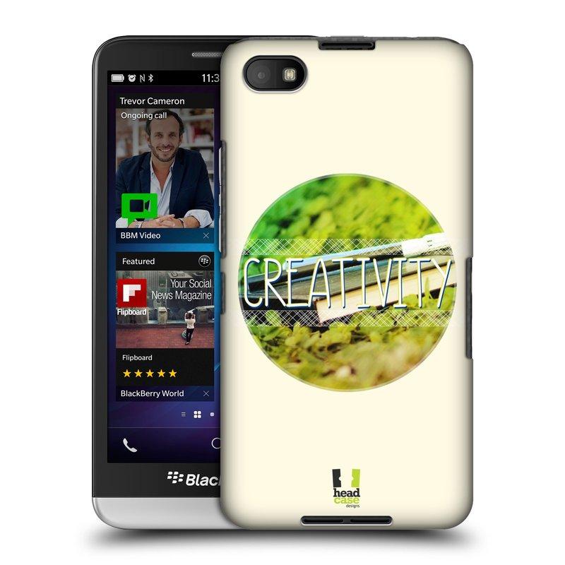 Plastové pouzdro na mobil Blackberry Z30 HEAD CASE INSPIRACE V KRUHU KREATIVITA (Kryt či obal na mobilní telefon Blackberry Z30)