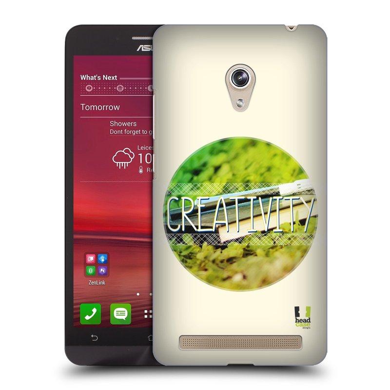 Plastové pouzdro na mobil Asus Zenfone 6 HEAD CASE INSPIRACE V KRUHU KREATIVITA (Kryt či obal na mobilní telefon Asus Zenfone 6 A600CG / A601CG)
