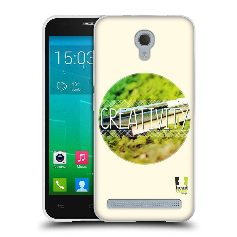 Silikonové pouzdro na mobil Alcatel One Touch Idol 2 Mini S 6036Y HEAD CASE INSPIRACE V KRUHU KREATIVITA (Silikonový kryt či obal na mobilní telefon Alcatel Idol 2 Mini S OT-6036Y)