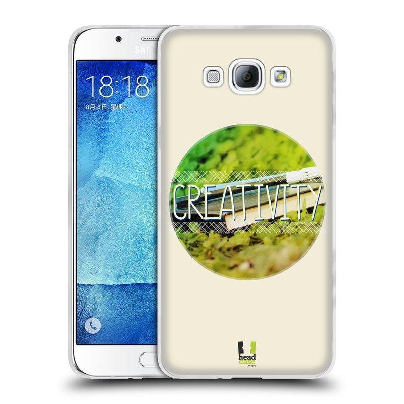 Silikonové pouzdro na mobil Samsung Galaxy A8 HEAD CASE INSPIRACE V KRUHU KREATIVITA (Silikonový kryt či obal na mobilní telefon Samsung Galaxy A8 SM-A800)