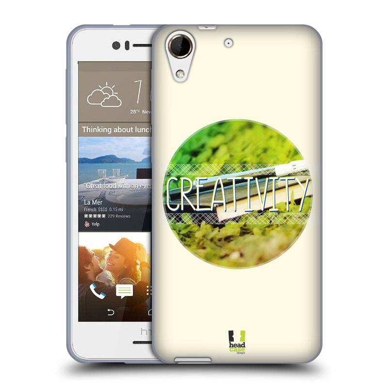 Silikonové pouzdro na mobil HTC Desire 728G Dual SIM HEAD CASE INSPIRACE V KRUHU KREATIVITA (Silikonový kryt či obal na mobilní telefon HTC Desire 728 G Dual SIM)