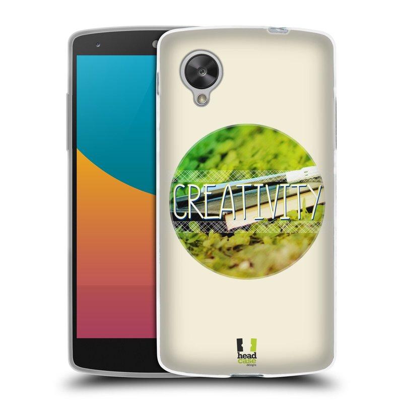 Silikonové pouzdro na mobil LG Nexus 5 HEAD CASE INSPIRACE V KRUHU KREATIVITA (Silikonový kryt či obal na mobilní telefon LG Google Nexus 5 D821)