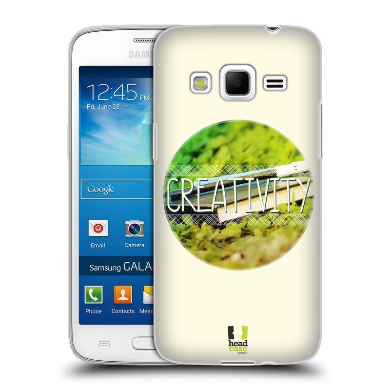 Silikonové pouzdro na mobil Samsung Galaxy Express 2 HEAD CASE INSPIRACE V KRUHU KREATIVITA (Silikonový kryt či obal na mobilní telefon Samsung Galaxy Express 2 SM-G3815)